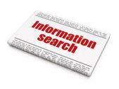 Data concept: newspaper headline Information Search — Stock Photo