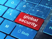 Privacy concept: Global Security on computer keyboard background — Stock Photo
