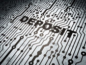 Education concept: circuit board with Deposit — Stock Photo