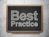 Education concept: Best Practice on chalkboard background — Stock Photo
