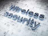 Protection concept: Silver Wireless Security on digital background — Stock Photo