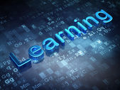 Education concept: Blue Learning on digital background — Stock Photo
