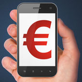 Currency concept: Euro on smartphone — Stock Photo