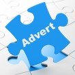 Stock Photo: Marketing concept: Advert on puzzle background