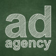 Stock Photo: Advertising concept: Ad Agency on chalkboard background