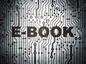 Education concept: circuit board with E-Book — Stock Photo