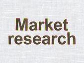広告の概念: 生地のテクスチャの背景に市場研究 — ストック写真