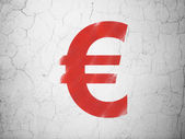 Currency concept: Euro on wall background — Stock Photo