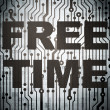 Stock Photo: Timeline concept: circuit board with Free Time