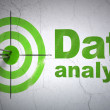 Data concept: target and Data Analysis on wall background — Stock Photo #41091287