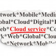 Cloud networking concept: Cloud Service on Paper background — Stock Photo #41091323