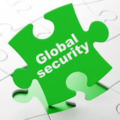 Privacy concept: Global Security on puzzle background — Stock Photo