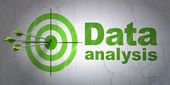 Data concept: target and Data Analysis on wall background — Stock Photo