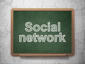 Social network concept: Social Network on chalkboard background — Stock Photo