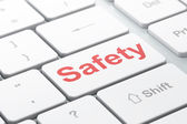 Safety concept: Safety on computer keyboard background — Stock Photo