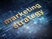 Advertising concept: Golden Marketing Strategy on digital background — Stockfoto