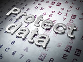 Privacy concept:  Protect Data on Hexadecimal Code background — Stock Photo