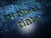 Safety concept: Protect Data on digital screen background — Stock Photo