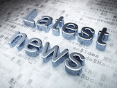 News concept: Silver Latest News on digital background — Stock Photo