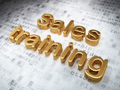 Advertising concept: Golden Sales Training on digital background — Stock Photo