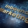 Business concept: Golden Inbound Marketing on digital background — Stock Photo #41293187