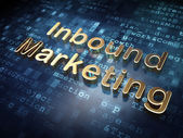 Business concept: Golden Inbound Marketing on digital background — Stock Photo