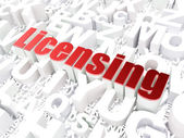Law concept: Licensing on alphabet background — Stock Photo