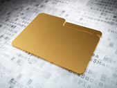 Business concept: Golden Folder on digital background — Stock Photo