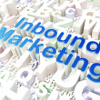 Business concept: Inbound Marketing on alphabet background — Stock Photo #41414861