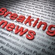 News concept:  Breaking News on News background — Stock Photo #41415413