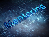 Education concept: Blue Mentoring on digital background — Stock Photo