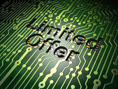 Business concept: Limited Offer on circuit board background — Stock Photo