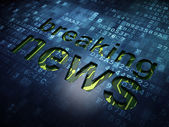 News concept: Breaking News on digital screen background — Stock Photo