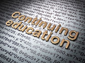 Education concept: Golden Continuing Education on Education background — Stock Photo