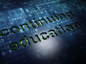 Education concept: Continuing Education on digital screen background — Stock Photo