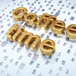 Time concept: Golden Coffee Time on digital background — Foto de Stock