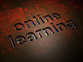 Education concept: Online Learning on digital screen background — Foto Stock