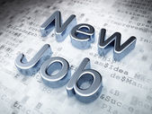 Business concept: Silver New Job on digital background — Stock Photo