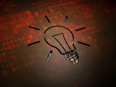 Business concept: Light Bulb on digital screen background — Stock Photo