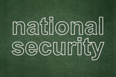 Safety concept: National Security on chalkboard background — Stock fotografie