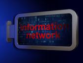 Data concept: Information Network on billboard background — Stock Photo