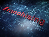 Finance concept: Red Franchising on digital background — Photo