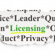 Law concept: Licensing on Paper background — Stock Photo #41664255