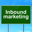 Finance concept: Inbound Marketing on road sign background — Stock Photo #41664573