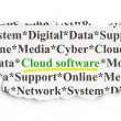 Cloud networking concept: Cloud Software on Paper background — Stock Photo