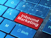 Finance concept: Inbound Marketing on computer keyboard background — Stock fotografie