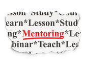 Education concept: Mentoring on Paper background — Stock Photo