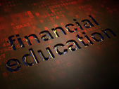 Education concept: Financial Education on digital screen background — Foto Stock