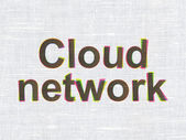 Cloud technology concept: Cloud Network on fabric texture background — Stock Photo