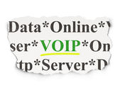 Web design concept: VOIP on Paper background — Stock Photo